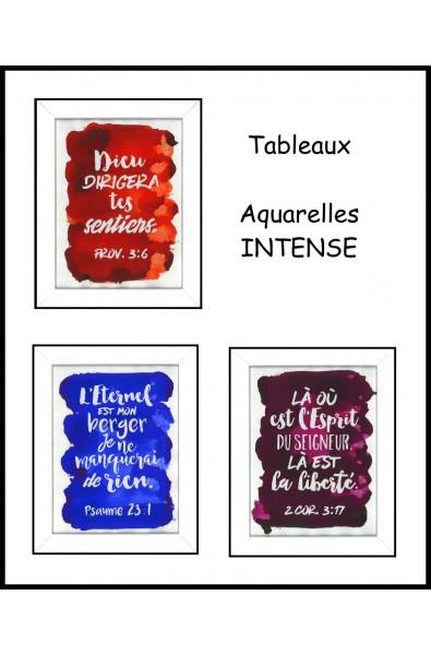 Tableaux Aquarelles Intense