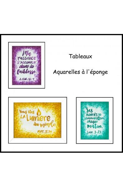 Tableaux Aquarelles à l'éponge