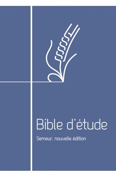 Bible Semeur d'étude Nouvelle édition - bleu - fermeture éclair