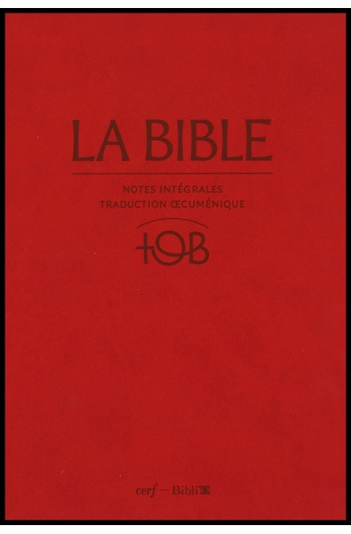 Bible TOB 2010, version d'étude