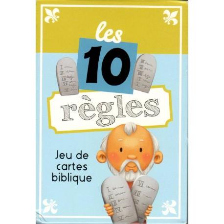 Jeu de cartes biblique - Les 10 règles