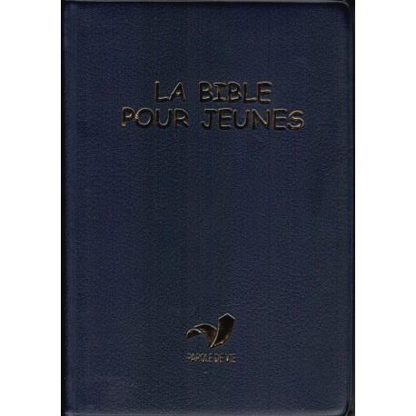 Bible PDV pour jeunes vinyle bleue