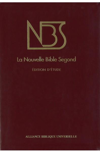Bible NBS, édition d'étude, similicuir bordeaux, tr. or