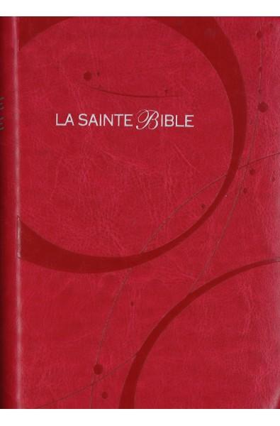 Bible Segond 1910 rose, tr. argent