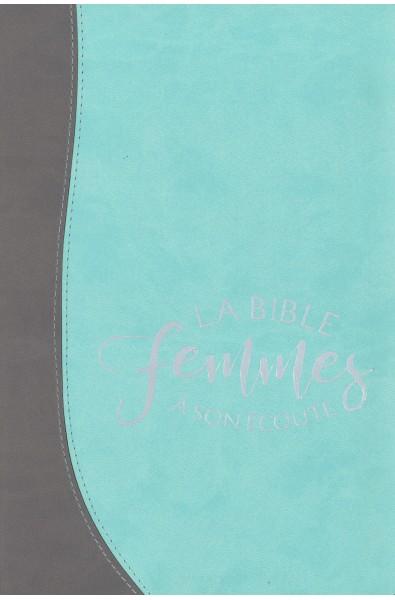 Bible du Semeur - Femmes à son écoute - Duo silver/aqua