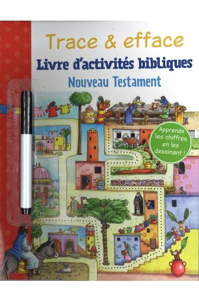 Trace & efface - Livre d'activités bibliques NouveauTestament