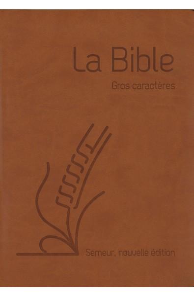 Bible du Semeur 2015 gros caractères - Souple, marron