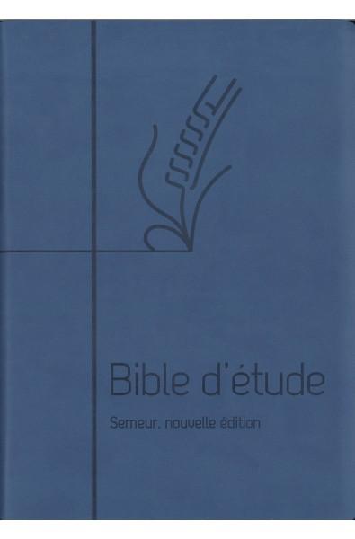 Bible du Semeur 2015 d'étude, bleue, couverture souple