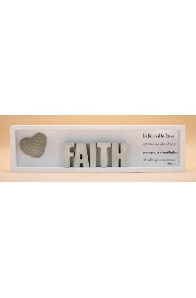 Cementini - Cadre en bois FAITH lettres ciment