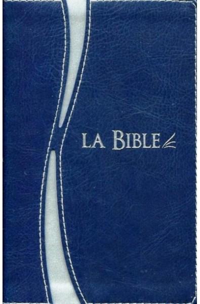 Bible Segond 21 duo bleu argent, tr. argent