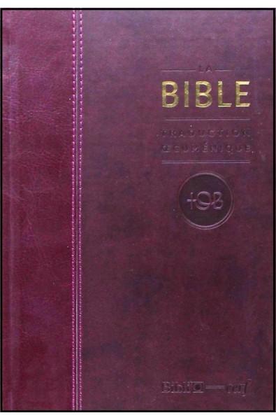 Bible TOB, rév. 2010, semi-rigide, bordeaux