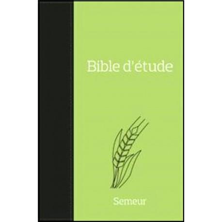 Bible Semeur d'étude - Souple - Verte