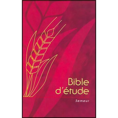 Bible Semeur - Bible d'étude grenat