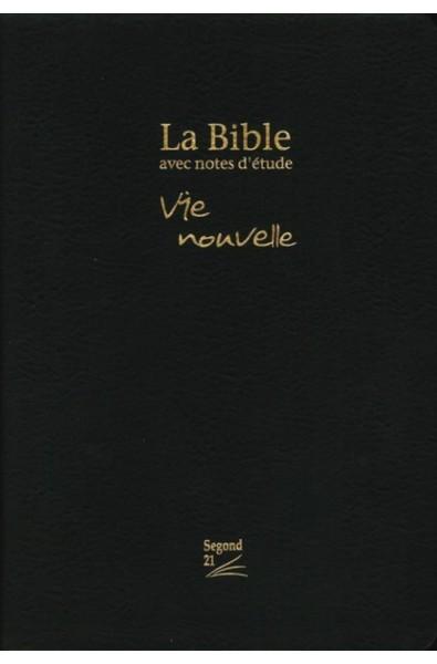 Bible Segond 21, fibrocuir noir, souple