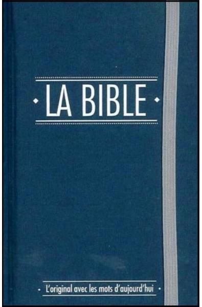 Bible Segond 21, extra mini bleue avec élastique