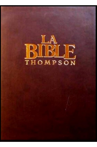 Bible Colombe Thompson, fibro marron, tr. or