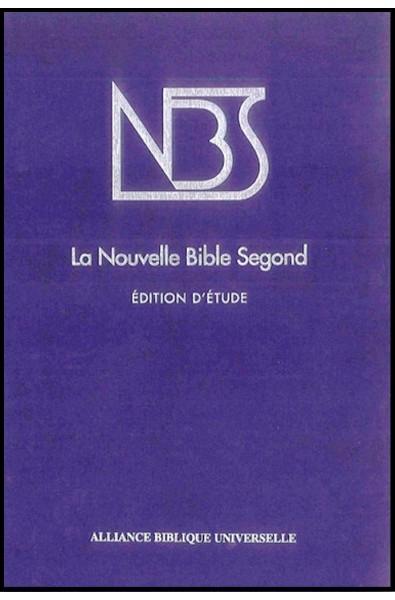 Bible NBS d'étude, rigide, bleue