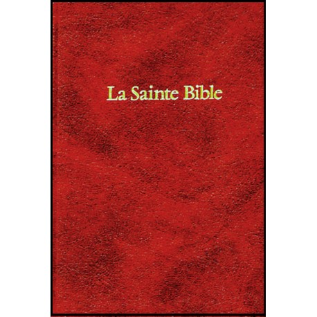 Bible Darby, skinluxe, tr. or, grenat