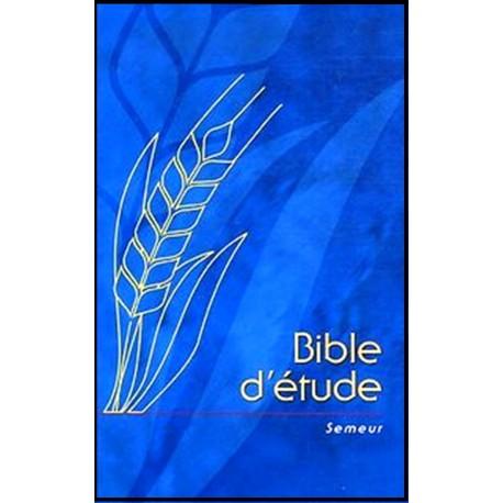 Bible du Semeur - Bible d'étude bleue