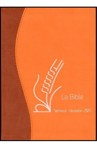 Bible du Semeur 2015, marron/orange, souple