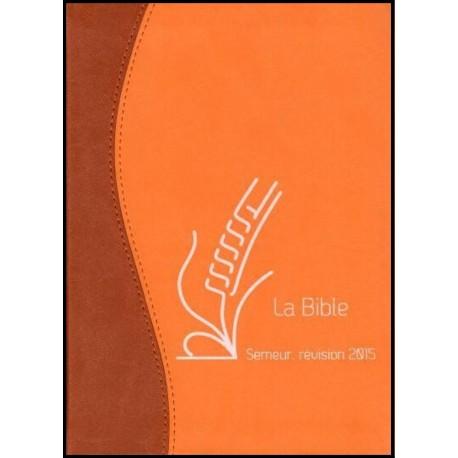 Bible du Semeur 2015, marron/orange, souple