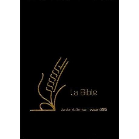 Bible du Semeur 2015, noir, cuir, glissière