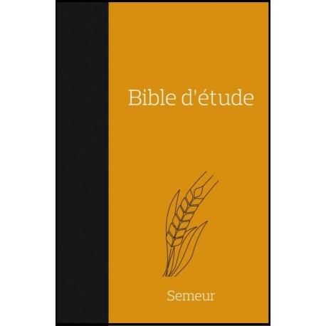 Bible du Semeur d'étude - Souple - Noire/orange