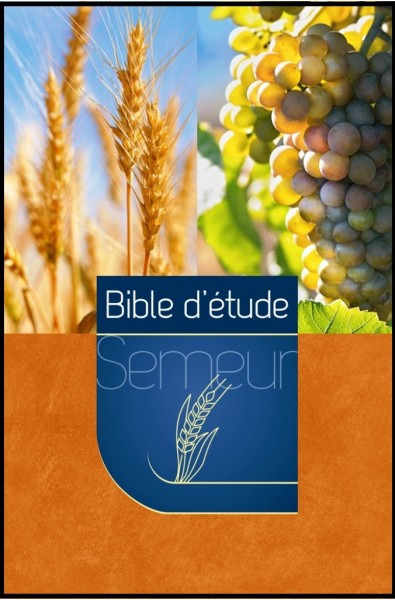 Bible du Semeur d'étude, marron-orange, illustrée