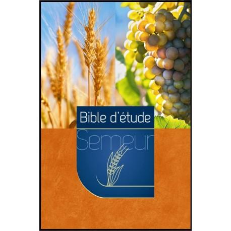 Bible du Semeur d'étude, marron-orange, illustrée