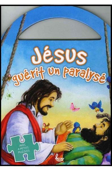 Jésus guérit un paralysé - Avec 4 petits puzzles
