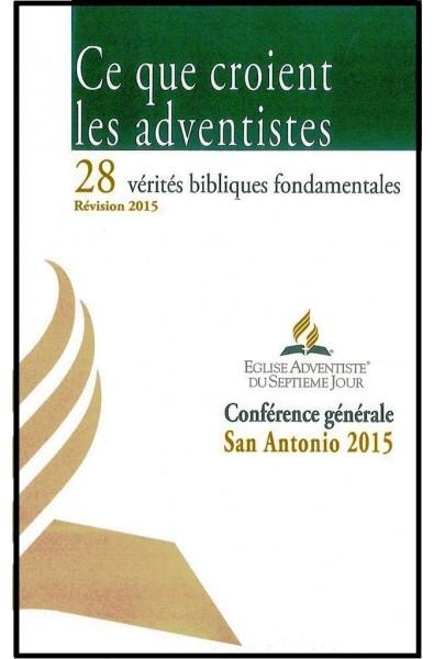 Ce que croient les adventistes 2015