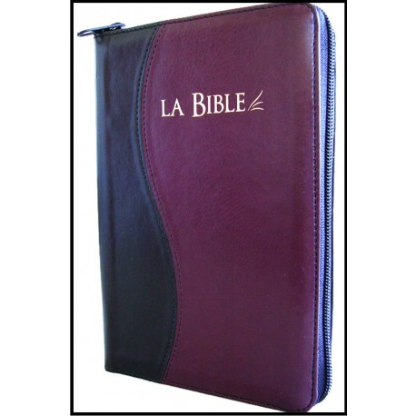 Bible Segond 21 noir-bordeaux
