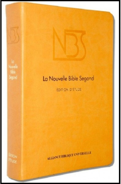 Bible NBS d'étude, sans deutéro, jaune