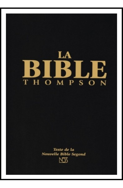 Bible NBS Thompson, rigide noire, tr. blanche, sans onglets