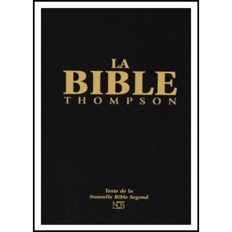 Bible NBS Thompson, rigide noire, tr. blanche