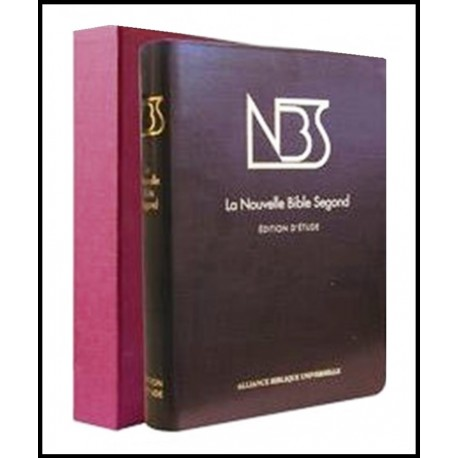 Bible NBS cuir, grande, sans deutéro, bordeau