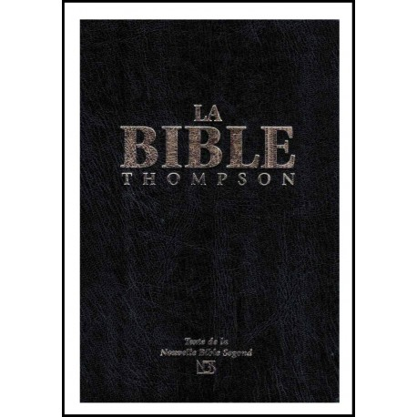 Bible NBS Thompson , Onglets, Rigide Noire, Tr. blanche