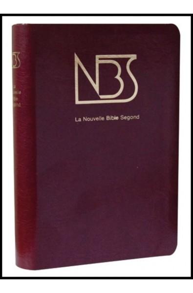 Bible NBS bordeaux, sans deutéro, tr. or