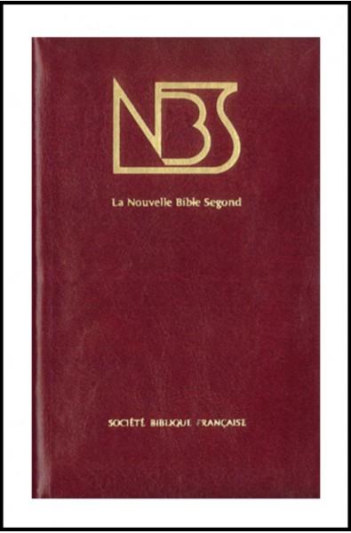 Bible NBS, cuir, ferm. éclair