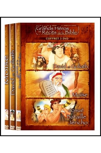DVD - Grands Héros et Récits 3 : David &Goliath, Moïse, Josué