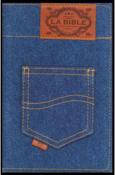 Bible Segond 21 souple, jeans, fermeture éclair