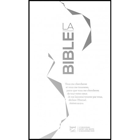 Bible Segond 21 Slim Reliée Argentée