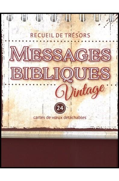 Messages bibliques vintage - Cartes de voeux détachables -