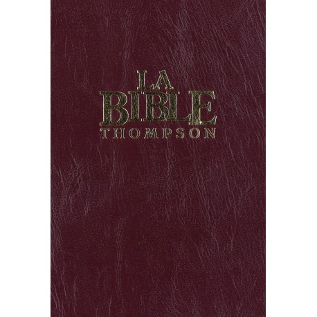 Bible Colombe Thompson cartonnée bordeaux