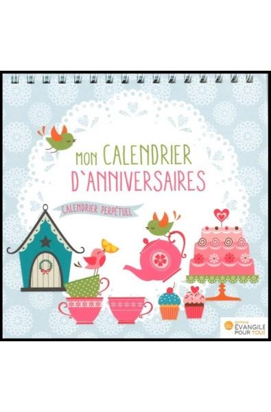 """Calendrier perpétuel """"Mon calendrier d'anniversaires"""""""
