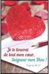 "Carte calendrier ""Coeur"""